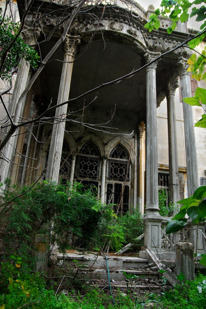 https://flic.kr/p/5QGhxF | Abandoned Mansion, Beirut | I discovered this mansion in the Hamra area of Beirut this week. These are a study I did of the entrances, various angles and color saturations, trying to get the best fit. When I went in, I discovered something interesting. But more on that to come.