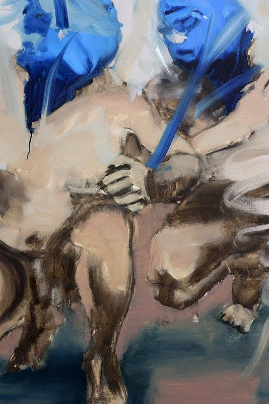 Othello I, (detail)  Artista: Bartosz Beda, óleo sobre lienzo, 153x153 cm, 2014  Artist: Bartosz Beda, oil on canvas, 153x153 cm, 2014  #art #arte #contemporaryartwork #pintura #paint #bac #dibujo #drawing