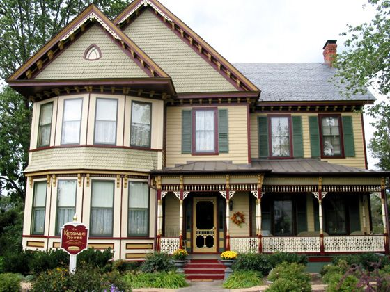 house colors 1880 | the front entry porch is a complex design that called for extra care ...