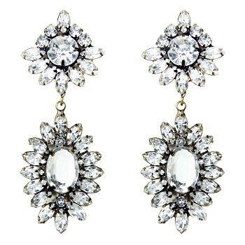 Talullah Tu - Crystal Starburst Jewel Statement Earrings
