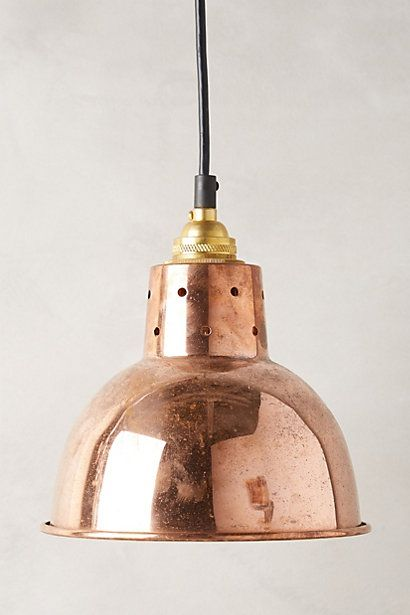 Spun reflector pendant lamp anthropologie small little lamp but perhaps a few together for the dining room i like the idea of a copper fixture to go