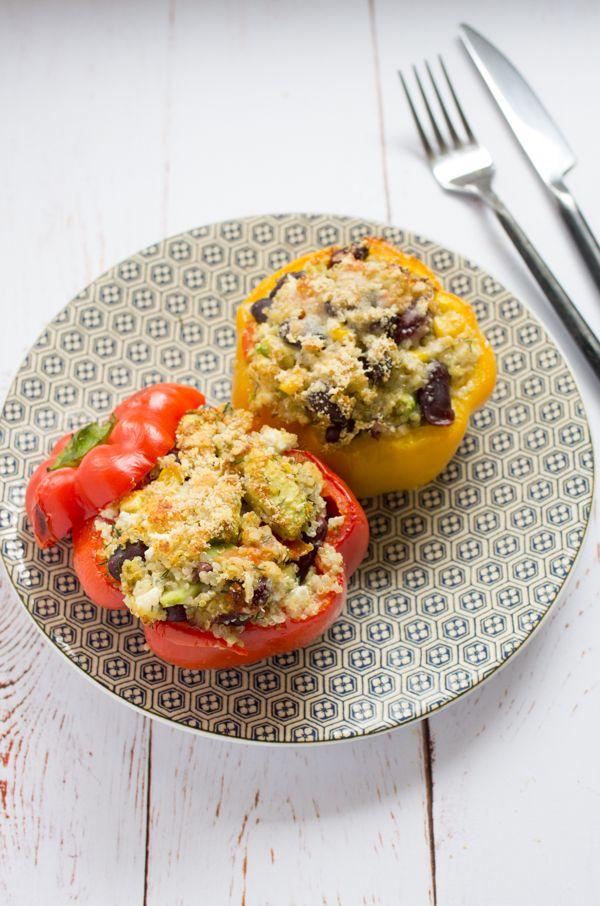 Poivrons farcis au quinoa et feta recette pour aimer le quinoa sur www.lagodiche.fr