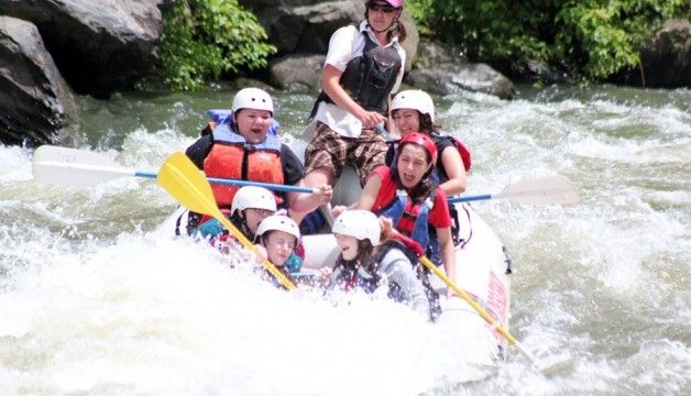 White Water Rafting on the Pigeon River in the Smoky Mountains of East Tennessee…