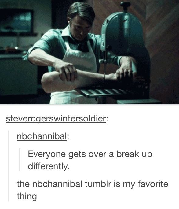 Hannibal getting over a breakup