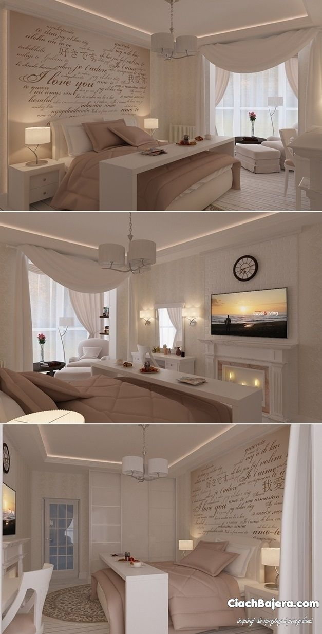 Przepiękna aranżacja sypialni
