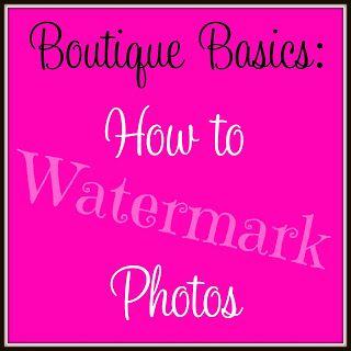 Watermarking Photos