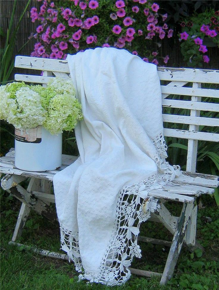 ....: Lace, Shabby Chic, Garden Benches, Outdoor, Gardening, Gardens, Things