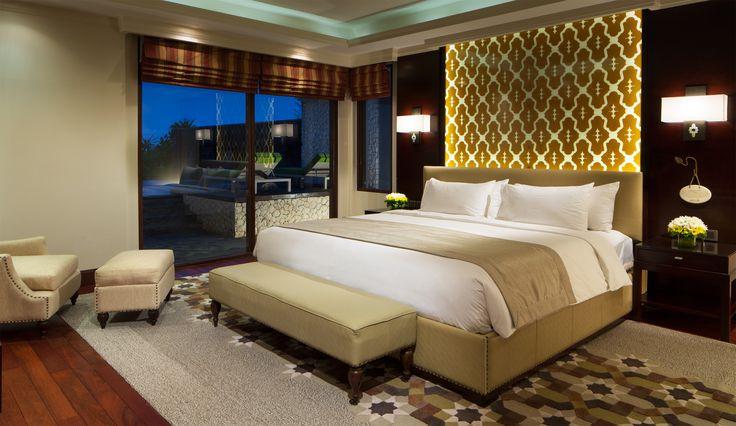 villa bedroom with a luxury design