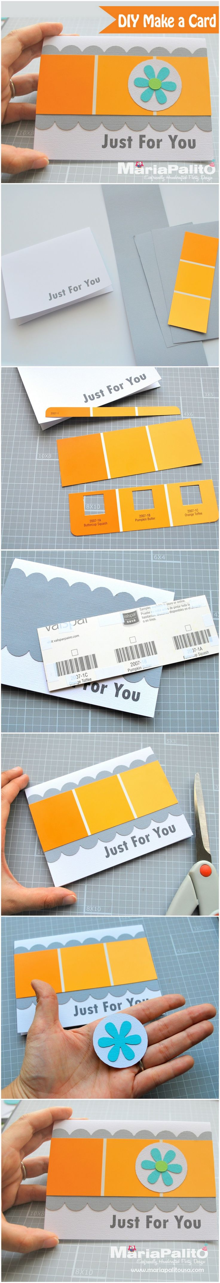 Diy Make A Card Using Paint Sample Cards