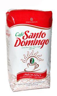 SANTO DOMINGO COFFEE Cafe Molido 1 lb. Dominican Ground Coffee