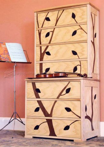 #2428 Marquetry Cabinet Plans - Furniture Plans