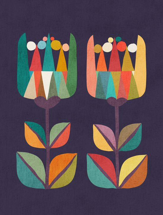 Poster | WHIMSICAL TULIP FLOWER I von Budi Kwan | more posters at http://moreposter.de