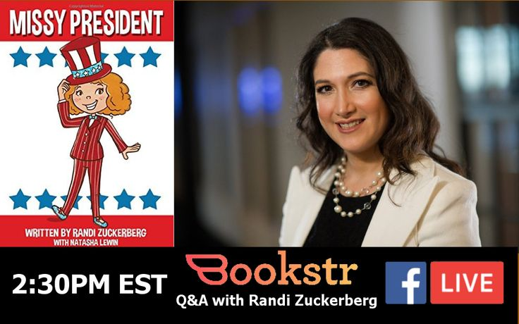 "We've got author Randi Zuckerberg (Yes, THAT Zuckerberg) coming in to speak about her new book, ""Missy President"" TODAY at 2:30 pm EST. Tune in and get your questions answered during a live interview hosted by our very own Sarah Hill!"
