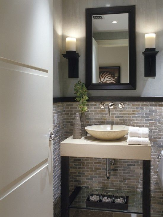 Marvelous 25 Modern Powder Room Design Ideas