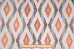 Ikat Pattern Fabric :: Mill Creek Jama Embroidered Decorator Fabric in Coral $14.95 per yard - Fabric Guru.com: Fabric, Discount Fabric, Upholstery Fabric, Drapery Fabric, Fabric Remnants, wholesale fabric, fabrics, fabricguru, fabricguru.com, Waverly, P. Kaufmann, Schumacher, Robert Allen, Bloomcraft, Laura Ashley, Kravet, Greeff