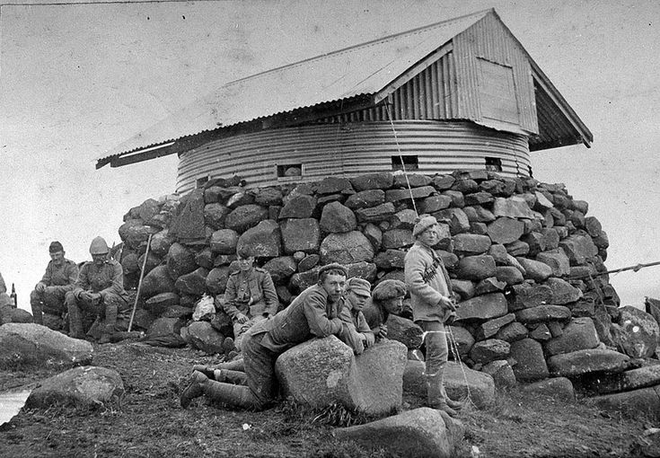 A British blockhouse, South Africa, 1901 (c) Approx 8,000 were built, manned by 50,000 troops & 16,000 African scouts. 6,400 kms of barbed wire fencing was erected in order to limit the Boers' freedom of movement.