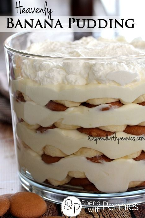 Heavenly Banana Pudding. This luscious no bake dessert is so easy and a definite crowd pleaser!