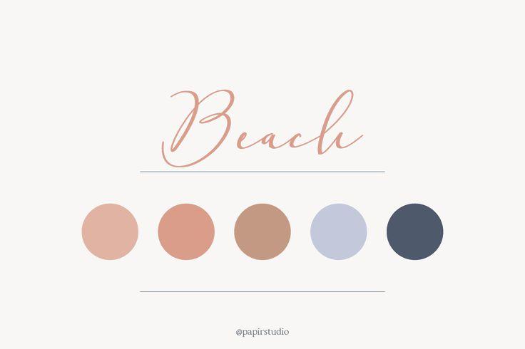 Beach color palette // blue, peach, nudes, marine