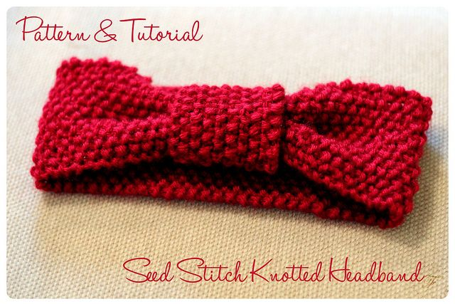 Seed Stitch Knotted Headband: Pattern & Tutorial by {F}arah, via Flickr