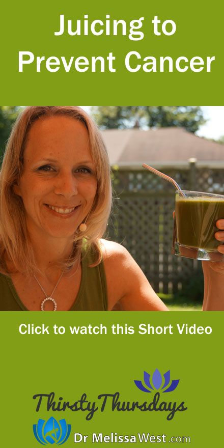 Cancer Diet, Cancer Juice, Cancer preventing Juice Recipe, Juicing to Prevent Cancer Today's Thirsty Thursdays Juicing Recipe includes a potent juice to help prevent cancer. I introduce antioxidants to slow or prevent cancer.