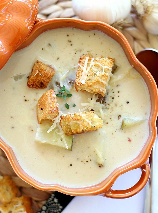 Roasted Garlic Soup. I'm thinking that there's lots of stuff that I can add to this