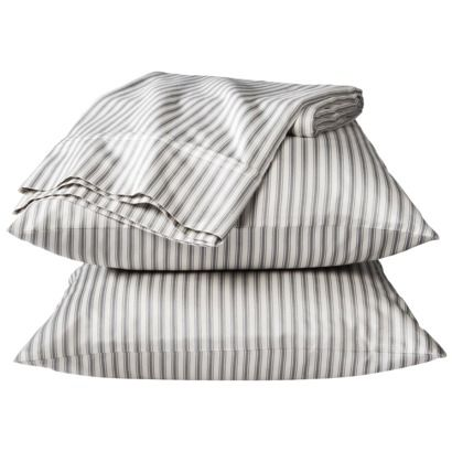 Threshold™ Performance Sheet Set - Pattern; Gray Geo OR Gray Stripe. Perfect replica of mattress ticking and oh so buttery soft!