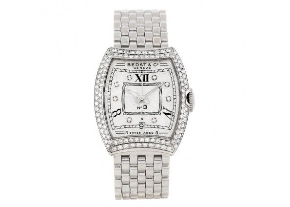 Bedat No 3 Ladies Stainless Steel Diamond Watch 314 031 109 Pocket