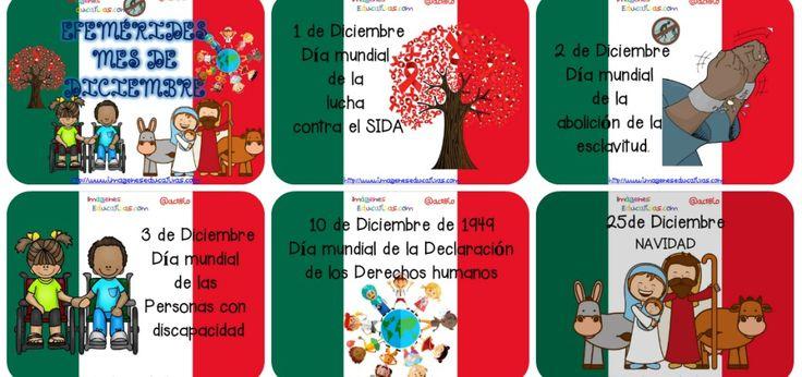 Efemérides Mes de Diciembre Fondo Mexico Portada