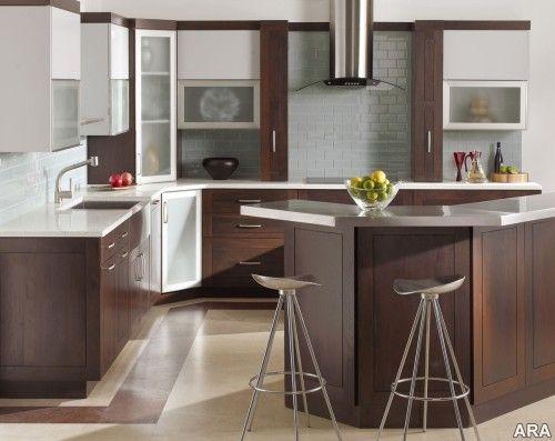 cool kitchen!Kitchens Interiors, Decor Kitchens, Living Room Design, Small Kitchens, Rustic Modern, Modern Rustic Kitchens, Design Kitchens, Kitchens Modern, Modern Kitchens Design