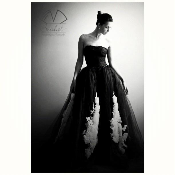 Francesca Miranda #Bridal #Spring #2013 #wedding #dress #black #white #love #inspiration #big #day / #novia #primavera #matrimonio #negro #blanco #amor #inspiración #día - @francescaonline- #webstagram