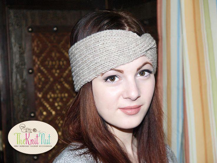 ♦☾ #Twist Turban Headband, Knit Headband, Twisted Headband, Turban Headban... Knitwear http://etsy.me/2gu9gLz