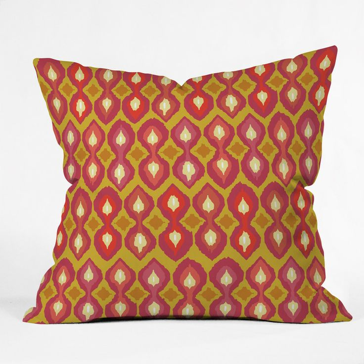 Sharon Turner Party Boardwalk Ikat Outdoor Throw Pillow | DENY Designs Home Accessories