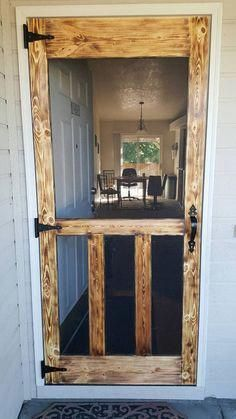 As seen on Pinterest…Rustic hand made wood, screen doors, Hardware included!
