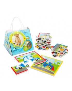 Bath Time Puzzles - Cars, Trains and Trucks
