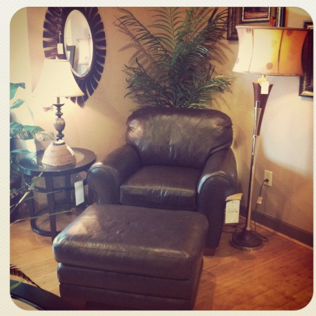 Lazy Boy Chair And Ottoman.
