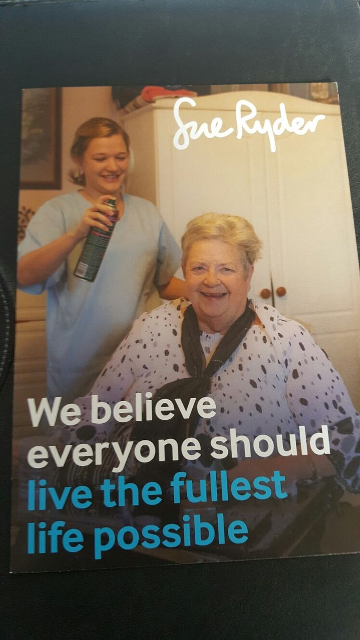 Leaflet That Can Be Picked Up From Your Local Sue Ryder Shop Telling You About What They Do