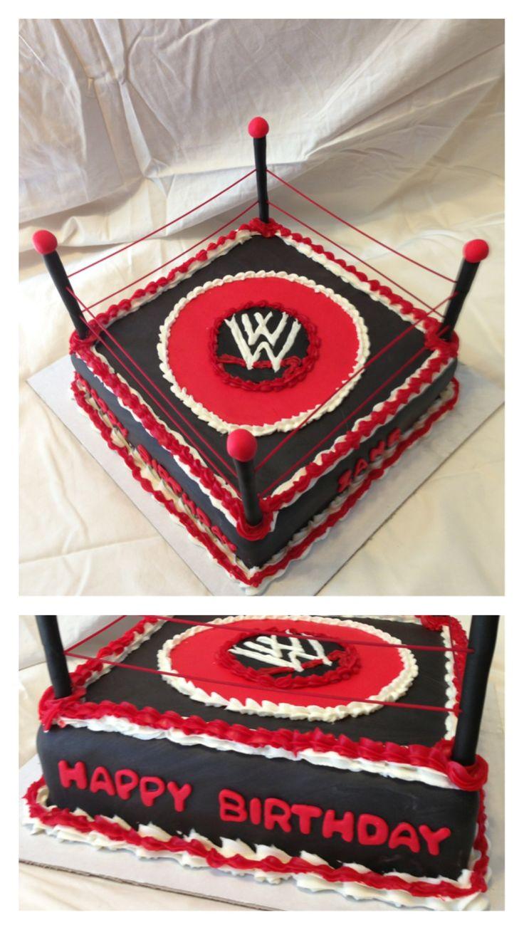 WWE Wrestling Birthday Cake