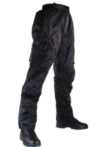 MOTORCYCLE-Bike-Waterproof-INSULATED-lined-Winter-BLACK-Pants-by-Qtech