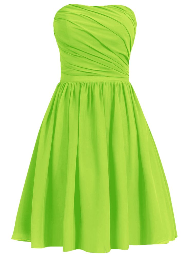 Lime green short bridesmaid dresses flower girl dresses for Short green wedding dresses
