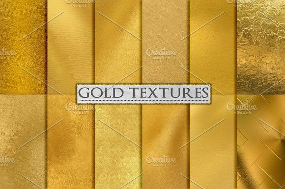 Gold Foil Textures, Gold Backgrounds by PaperElement on @creativemarket