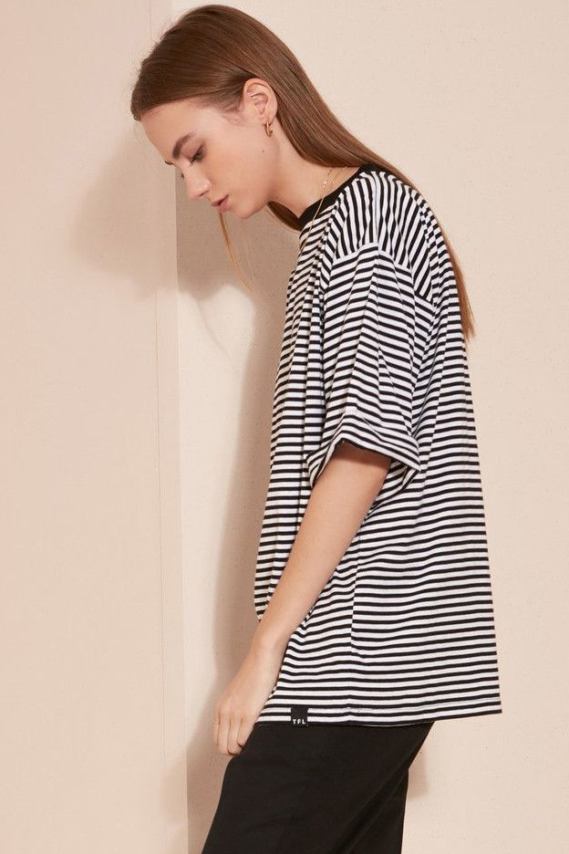 The Fifth Label - New Way T-Shirt - Black And White Stripe