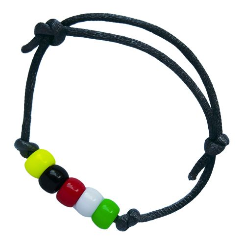 This DIY Salvation Bracelet with two sliding adjustable knots fit most children and adults. Each pack of DIY Wordless Bracelet Kit comes with 20 individually packaged sets of beads, cord and simple guide for each child to make one Salvation Bracelet and equip each child to share the gospel with friends using the colors of the beads. Also comes with a detailed instructions sheet for the leader. Learn more: https://www.letthelittlechildrencome.com/child-evangelism-tools/wordless-bracelet-kit
