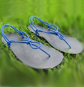 This unique and innovative sandal has a strong yet incredibly thin sole, and you can actually go running in them! Barefoot footwear claims you use the natural shock-absorbing, spring-like mechanism of your body which prevents injuries. Big bonus, you can tie them up in a variety of ways, so it's like buying 100 pairs of sandals in 1 - very eco!
