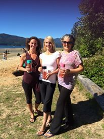 At the Sunshine Coast Yoga Festival with two of my favourite women who happen to also be fellow Libre tea Leading Lights!