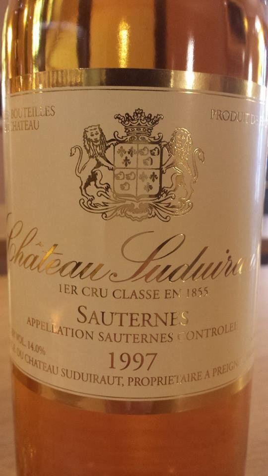 Wine Of The Day Vin Du Jour Chteau Suduiraut 1997 1er Cru Class
