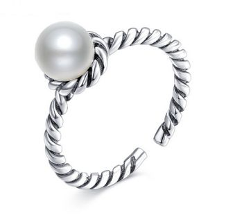 Freshwater pearl ring size is adjustable  Free Shipping
