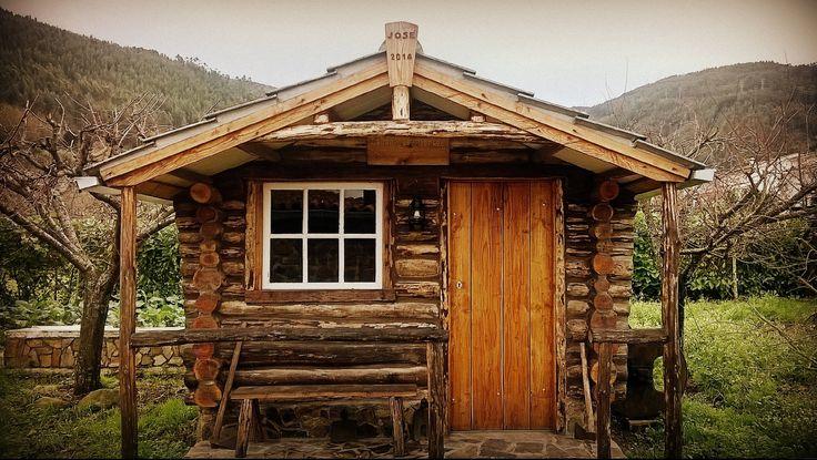 diy huis building | Construção total de uma cabana de troncos - YouTube