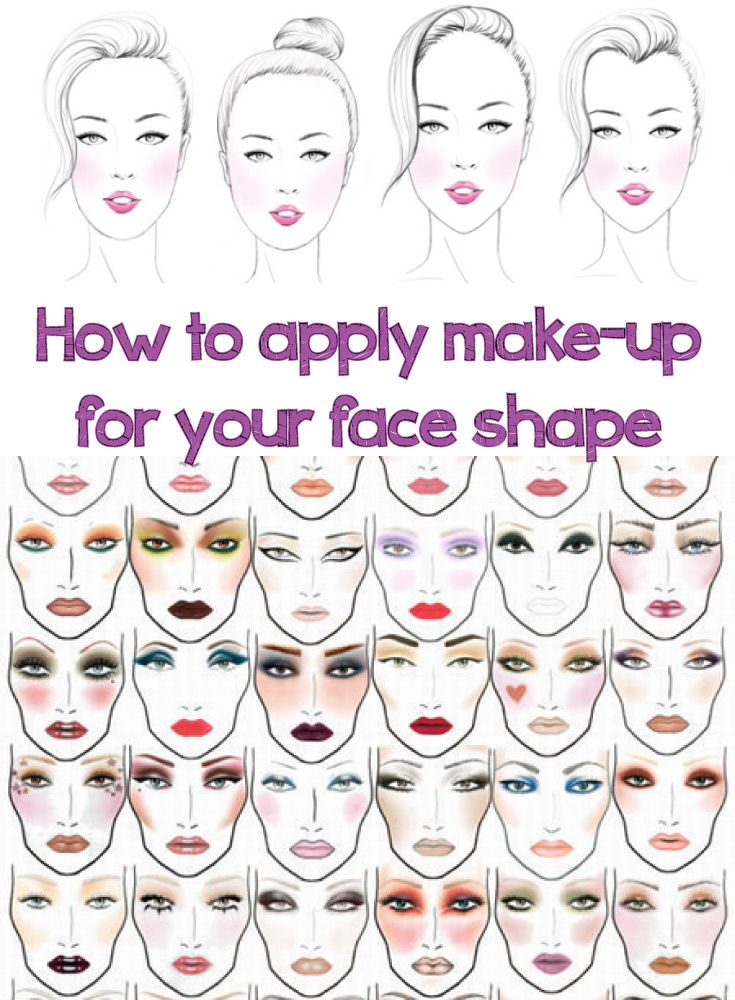 How To Apply Make Up For Your Face Shape Hair And Makeup Tips