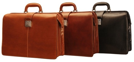 """Tony Perotti - Benevento 17"""" Lawyers Briefcase Triple Gusset - Leather Briefcases - Briefcases. LOVE this one."""