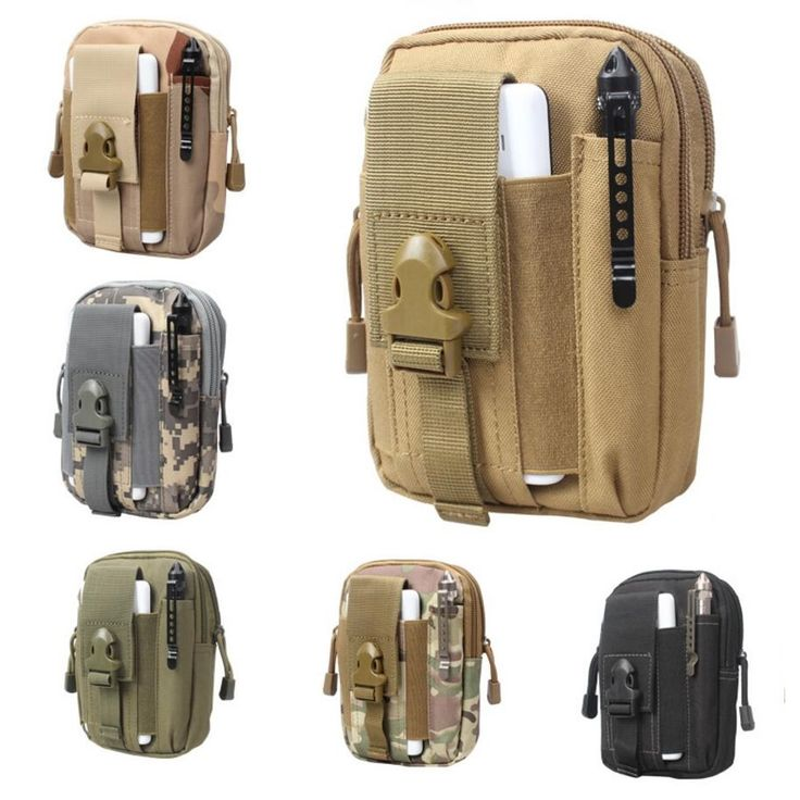 Tactical Military Phone Bag Men Outdoor Camouflage Pack Sport Waist Belt Case Waterproof Nylon EDC Fanny Pouch Hunting Camo Bags
